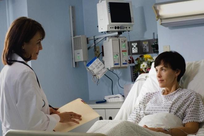 Плановый осмотр пациентки