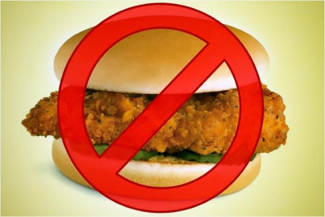 Отказ от употребления жирной и жареной пищи