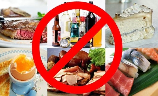 Продукты запрещённые при химиотерапии