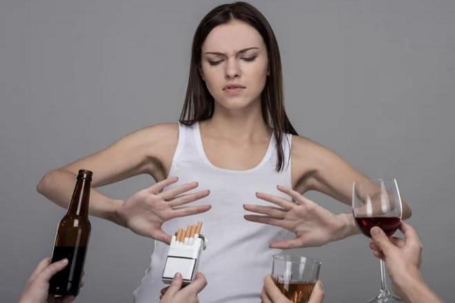 Отказ от алкоголя и сигарет при муцинозной цистаденоме яичника