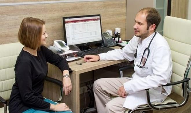 Пациентка с аднексэктомией у врача